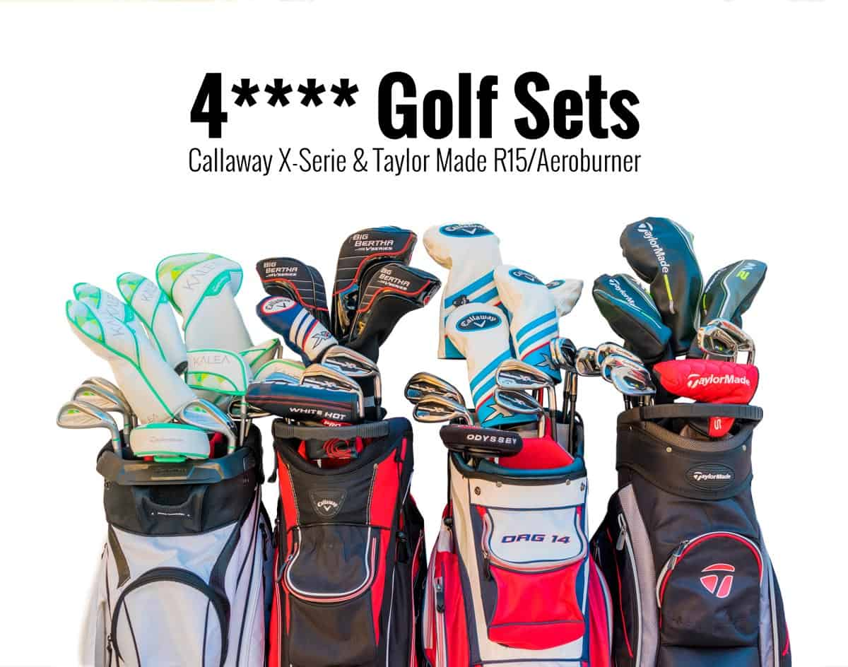 4**** Golf Sets: Callaway X-Serie & Taylor Made R15/Aeroburner