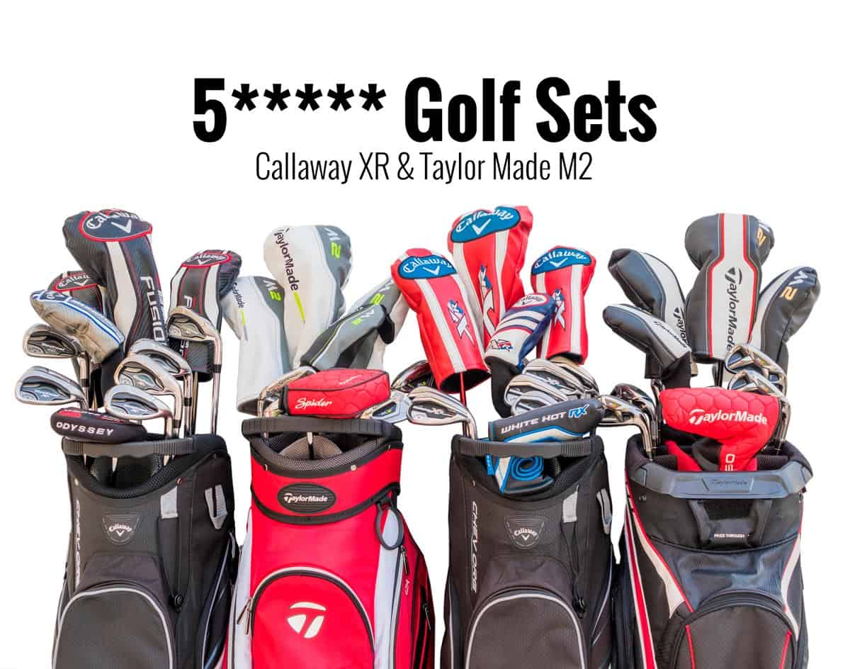 5***** Golf Sets: Callaway XR & Taylor Made M2